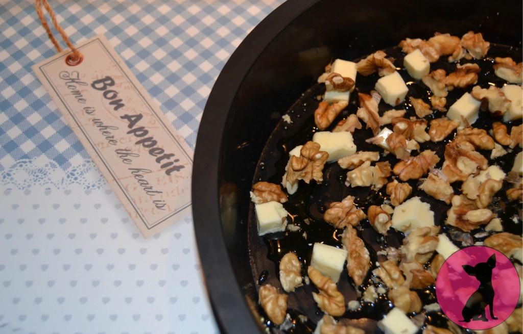 tarte tatin dendives miel roquefort noix