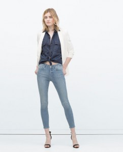 look total denim zara