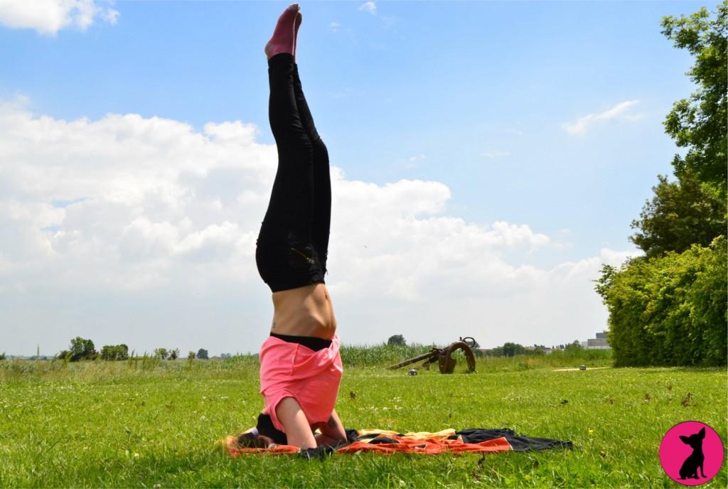 posture sur la tête yoga