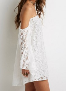 robe total dentelle sheinside