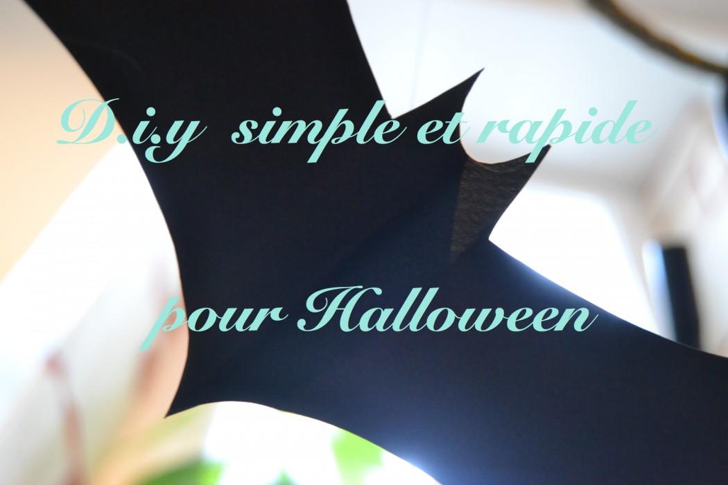 DIY simple et rapide pour halloween
