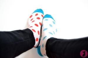 Chaussettes Despasrayes aux pieds