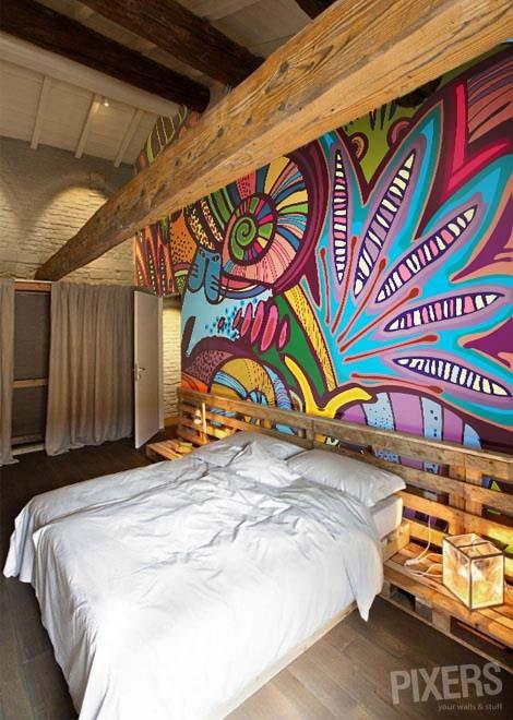 Décoration aborigène chambre