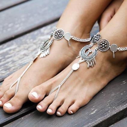 bijoux de pieds bohemes