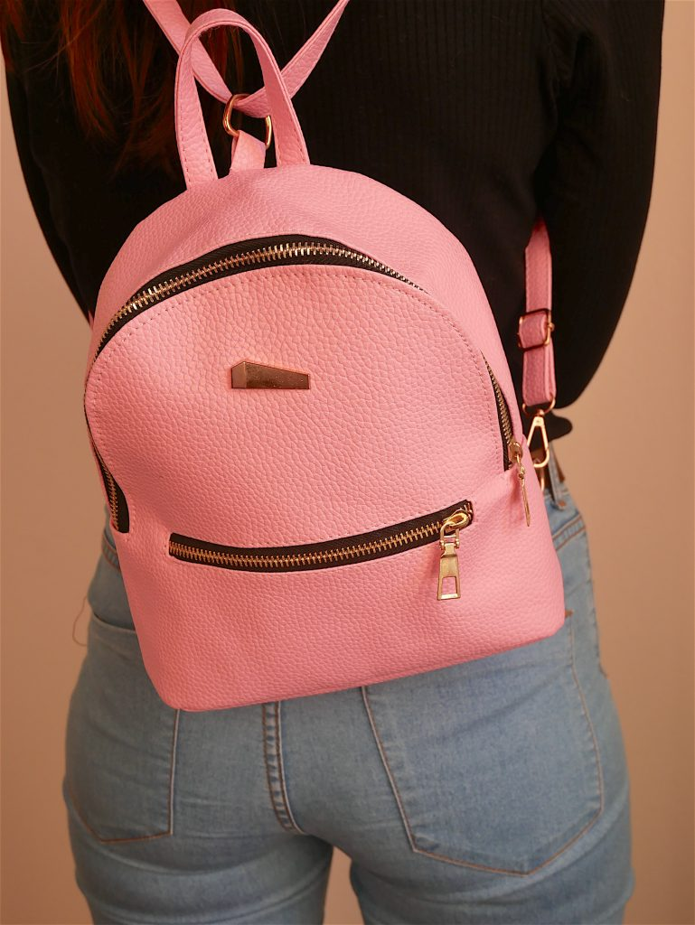 sac à main à dos rose