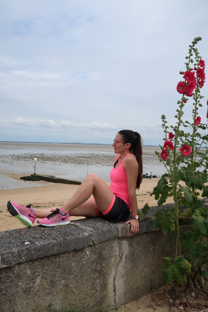 tenue de running rose